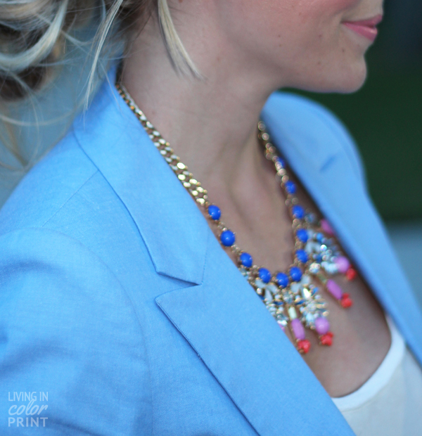 Periwinkle Blazer | Living In Color Print