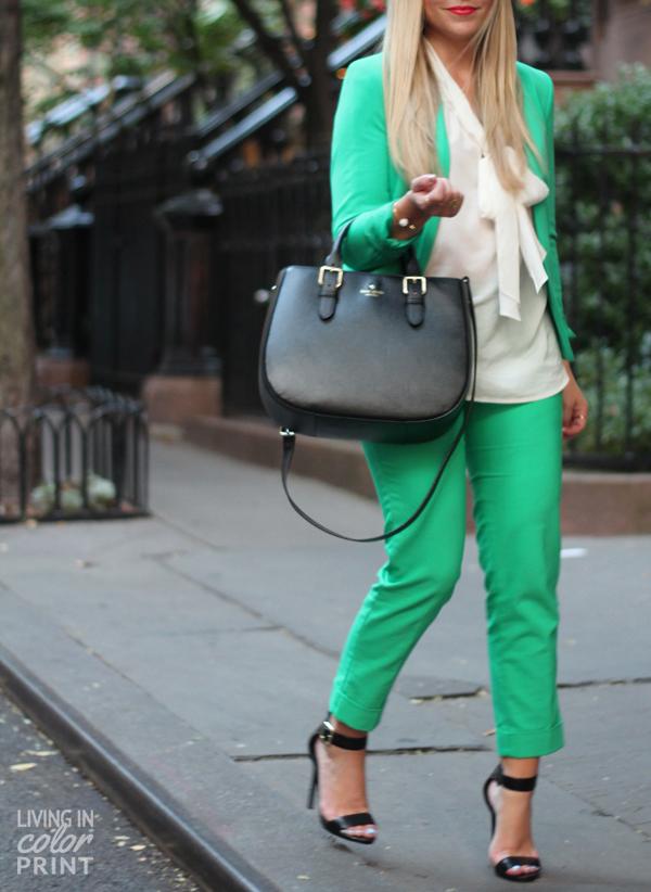 NYFW | Green Suit