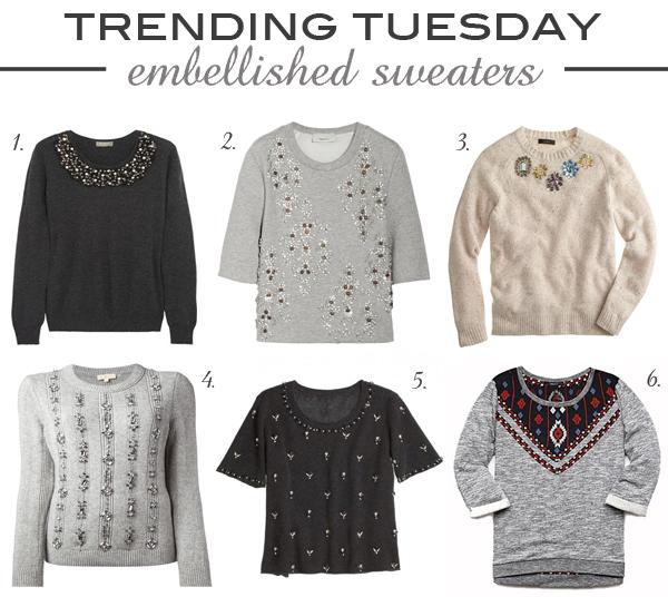Emebllished Sweaters | Fall 2013