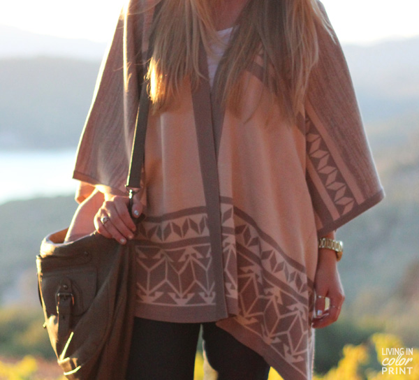 Beige Poncho | Mountainside Napa Valley