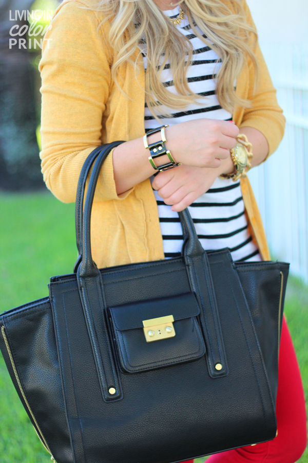 Red + Mustard   Living In Color Print