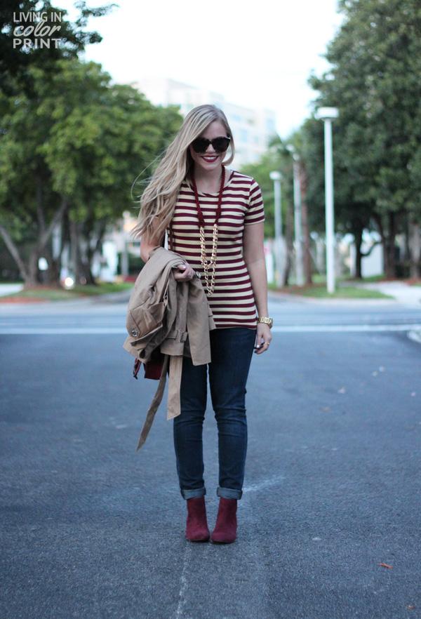 Seminole Style Part V   Garnet + Gold Stripes