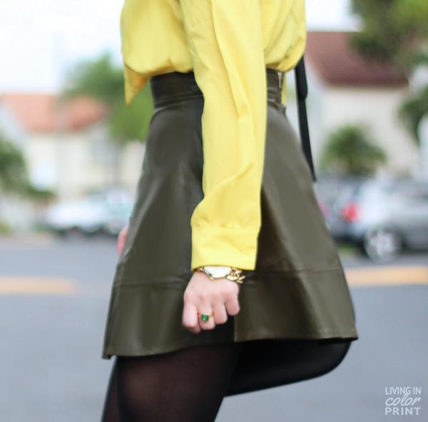 Olive Green Skater Skirt