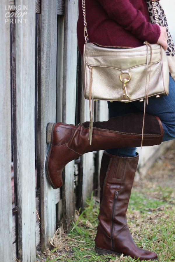 Dark Brown Boots + Gold