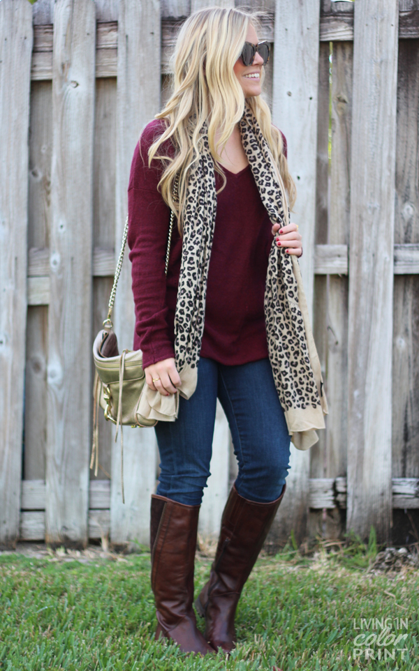 Garnet Sweater | Living in Color Print