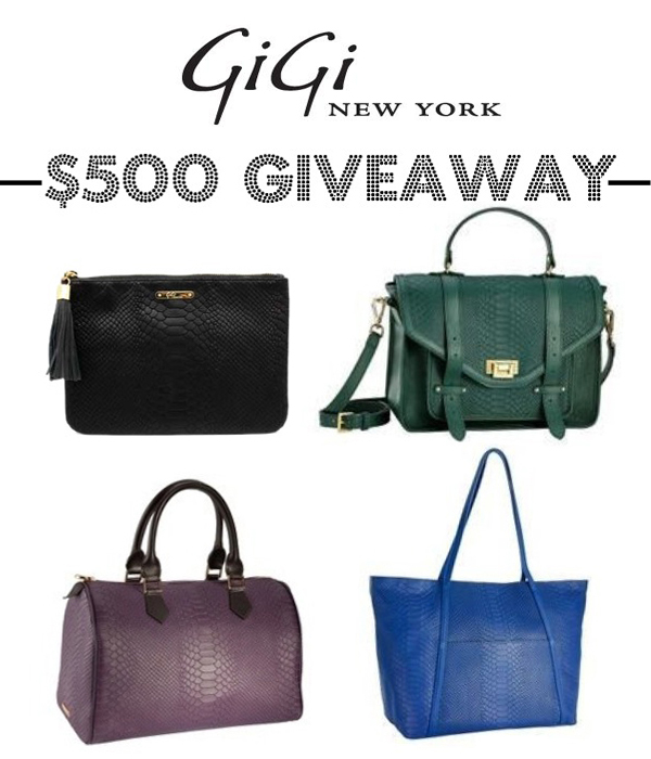 GiGi New York $500 giveaway