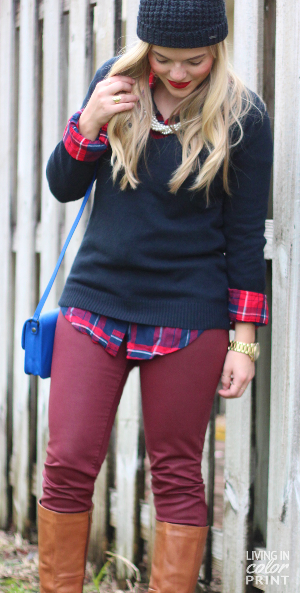 Navy + Cranberry | Living In Color Print