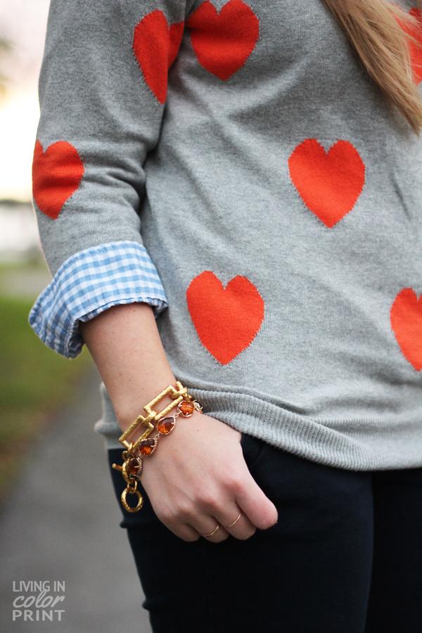 Orange Hearts | Living In Color Print