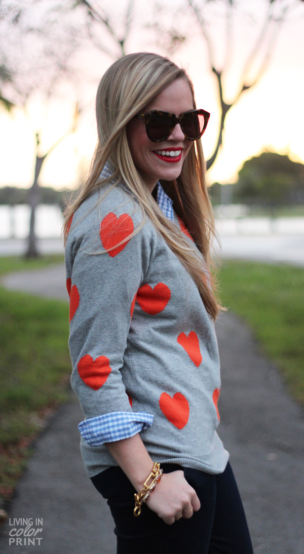 Orange Hearts | Living In Color Print