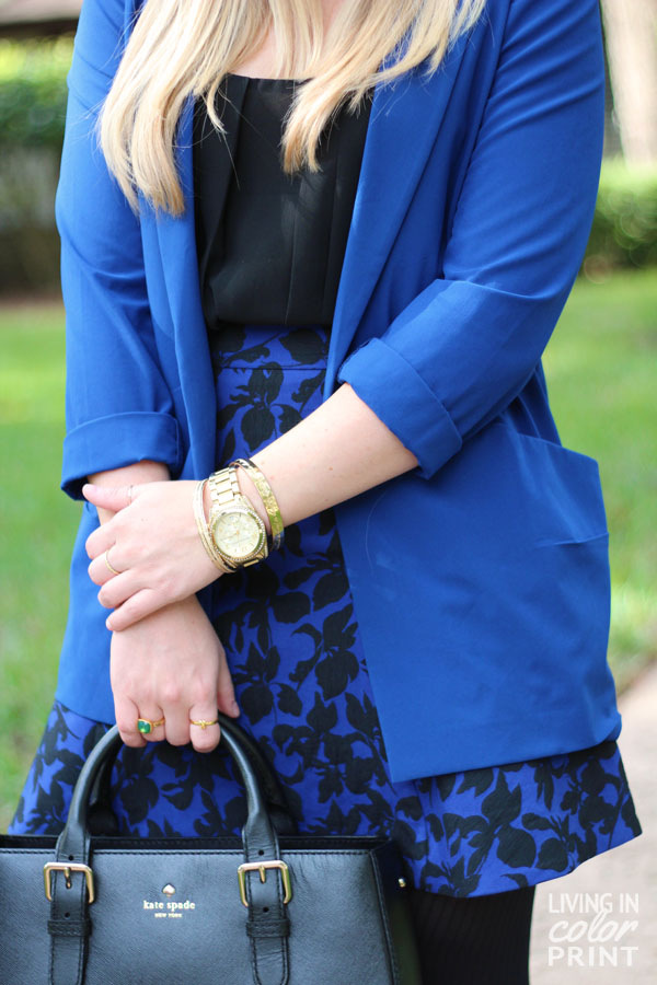 Cobalt + Black Brocade