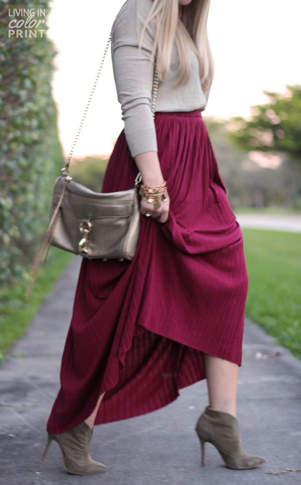 Maroon Maxi   Living In Color Print