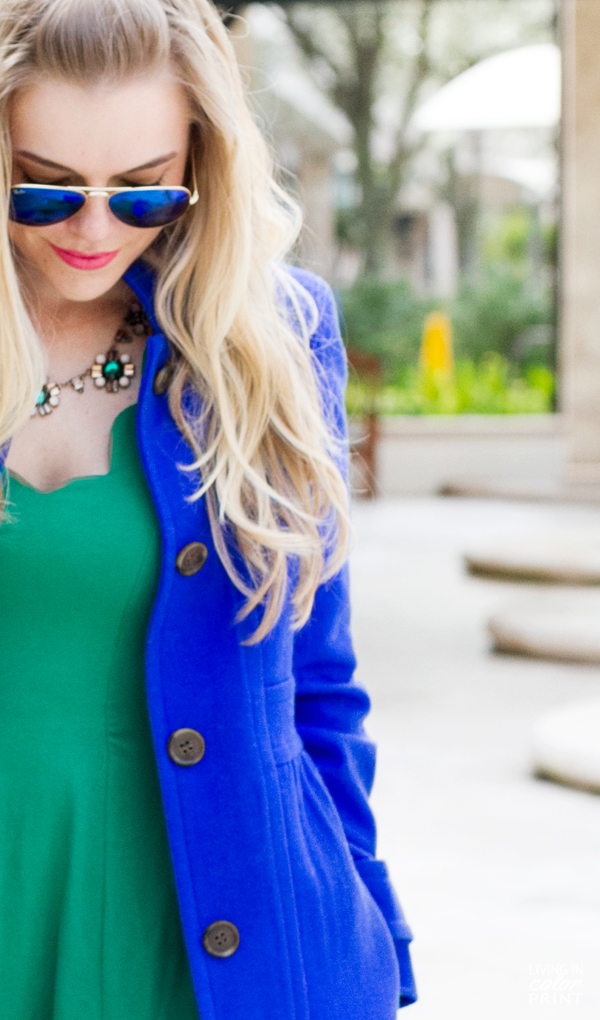 Cobalt + Green | Living In Color Print