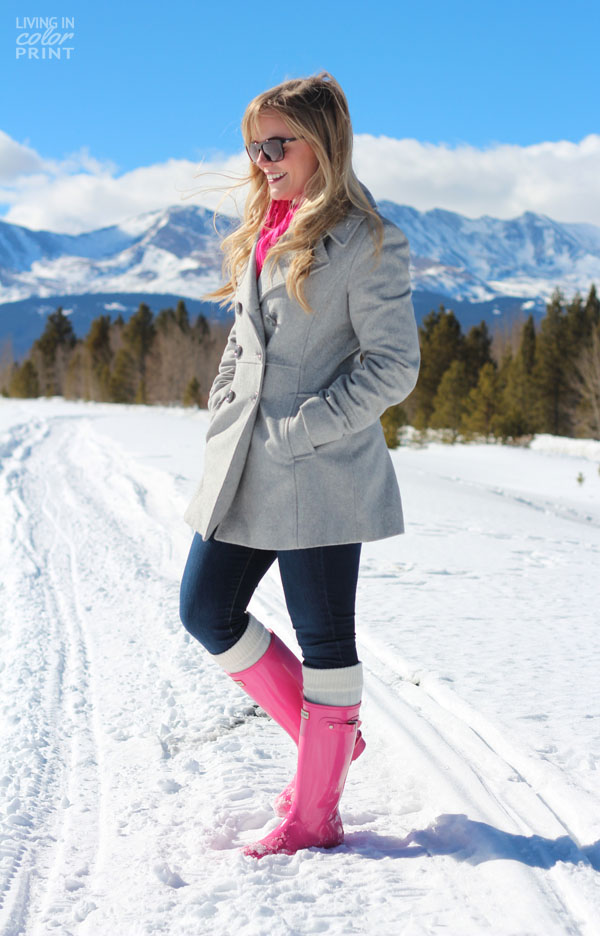 Pink in the Snow | Living In Color Print