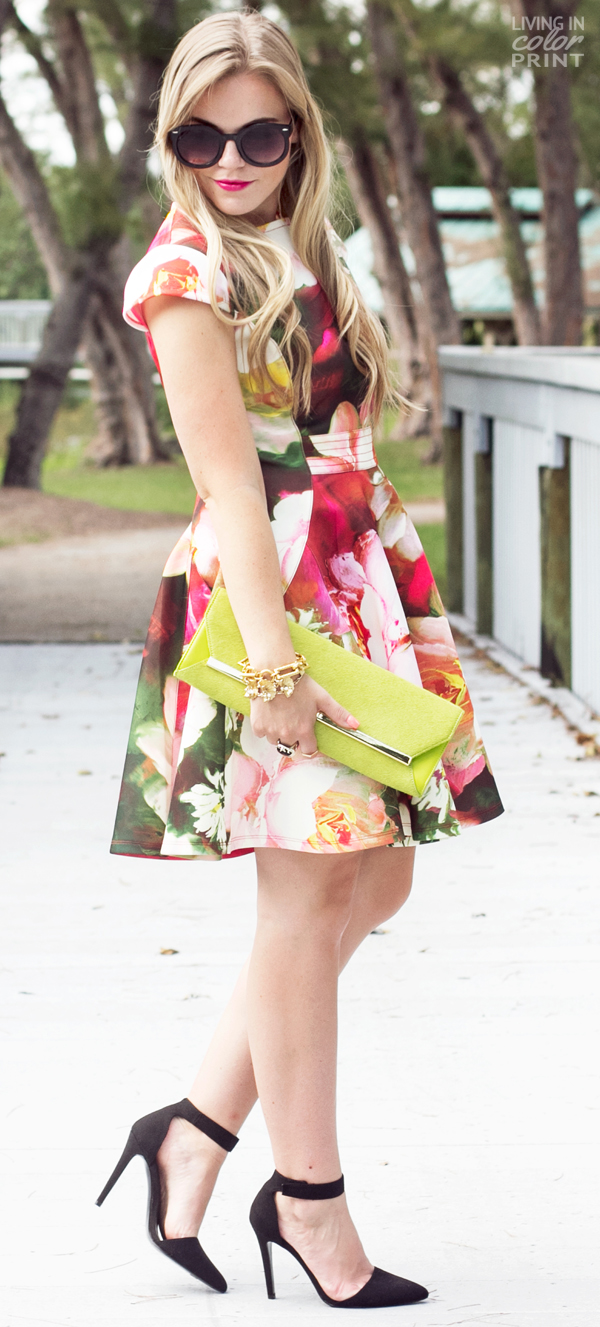 Ordinaire ... Rose Print Dress | Living In Color Print ...