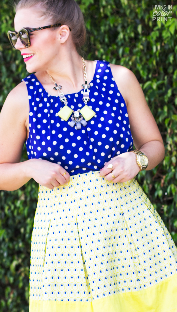 Cobalt + Yellow   Living In Color Print