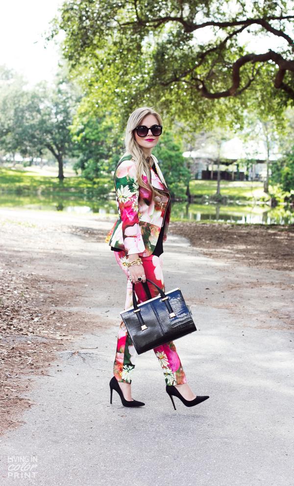 Floral Pant Suit | Living In Color Print