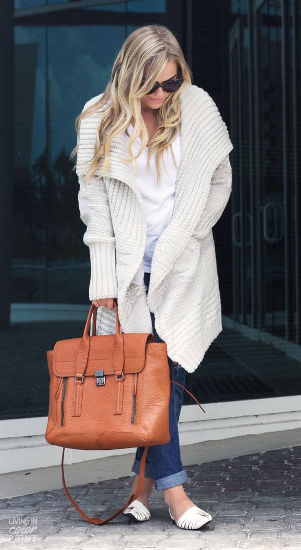Airport Sweater   Living In Color Print