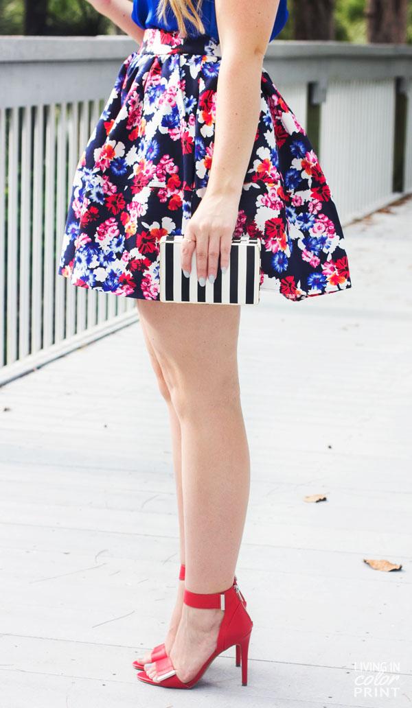 Feminine Floral Circle Skirt3
