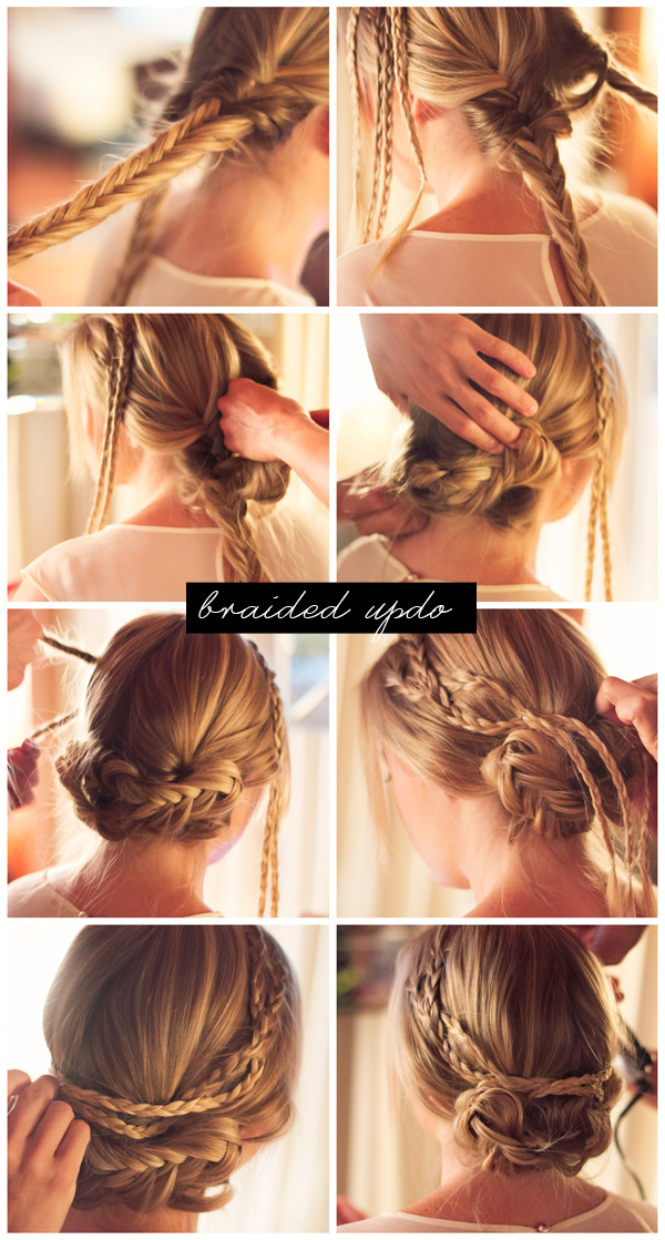Braided Updo Steps