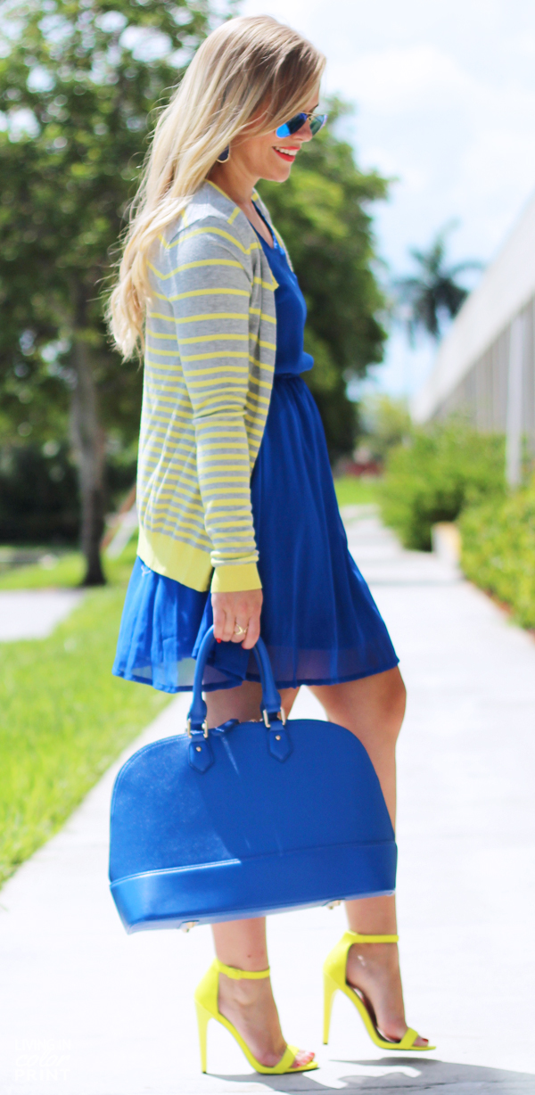 Cobalt + Yellow | Living In Color Print