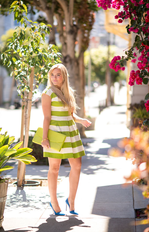 Green Stripes | Living In Color Print