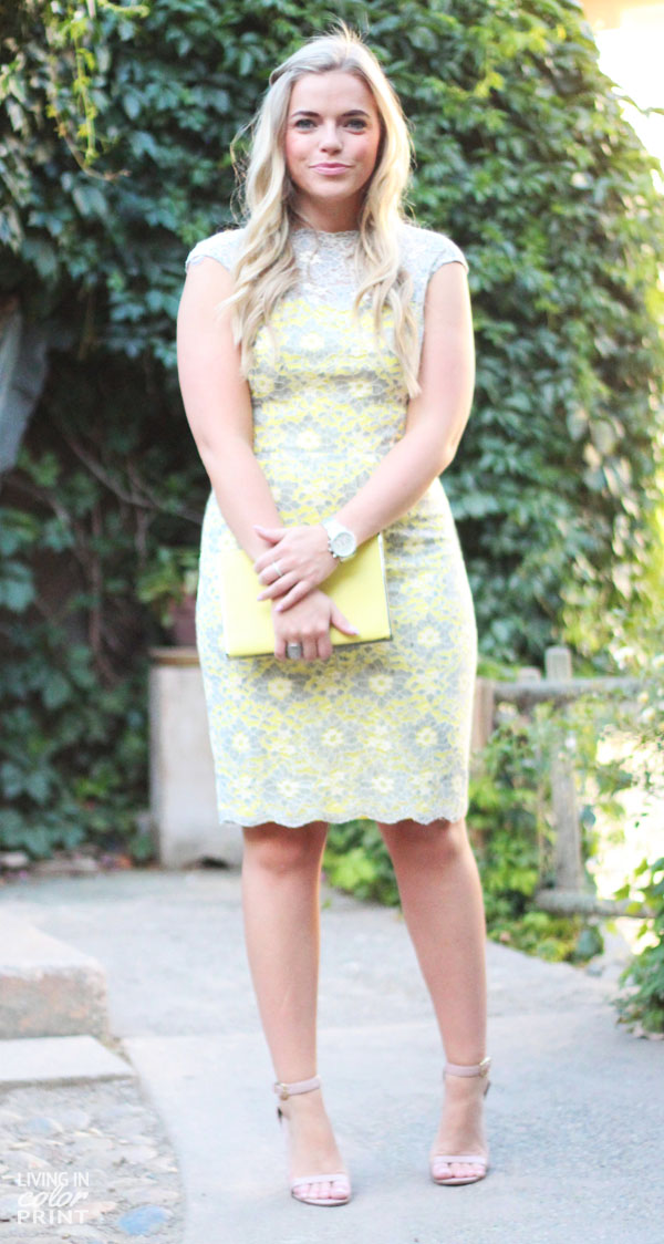 Grey + Yellow Lace | Living In Color Print
