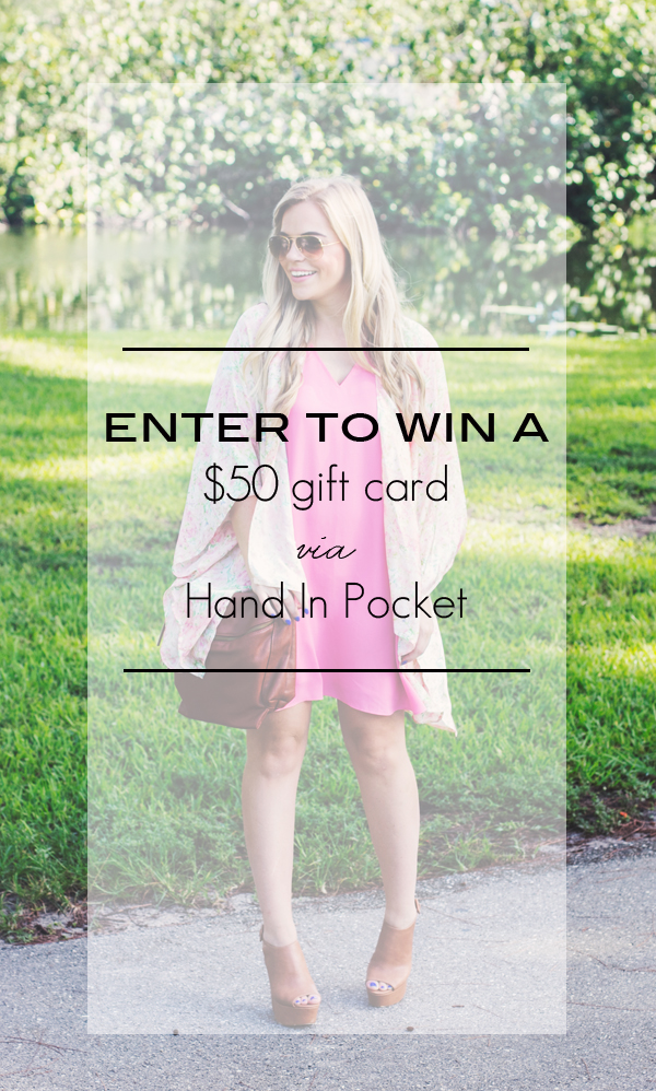 Hand In Pocket Giveaway