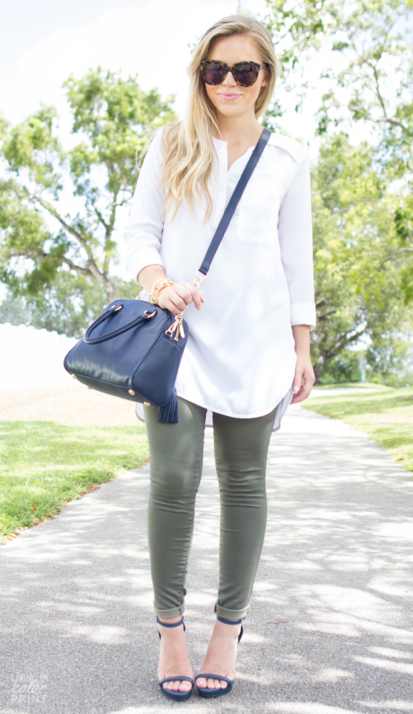 Olive + Navy | Living In Color Print