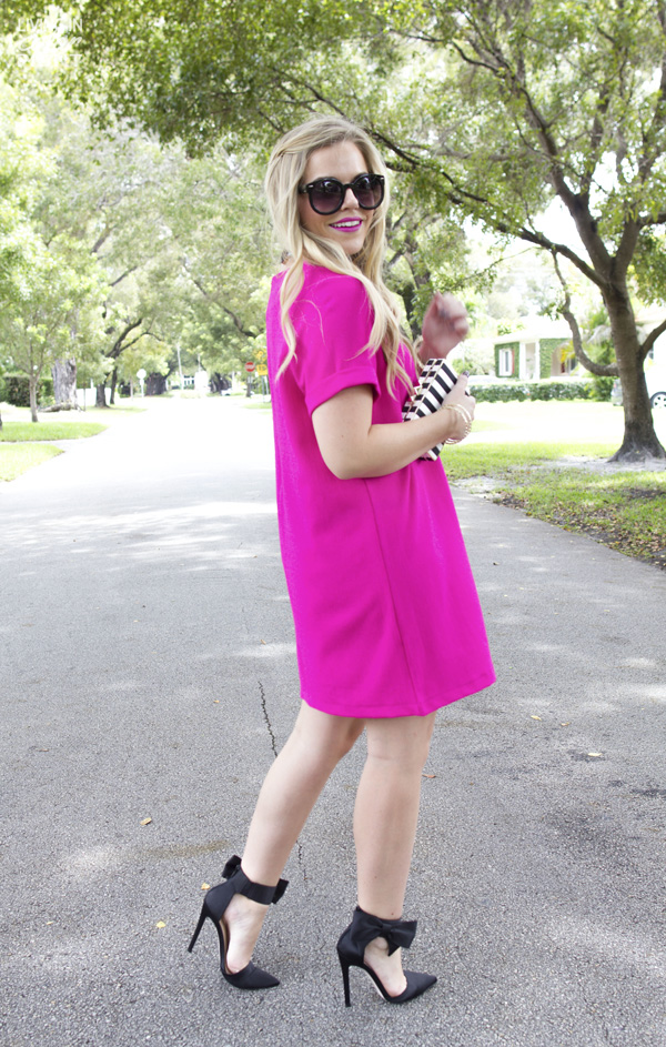 Fuchsia Dress | Living In Color Print