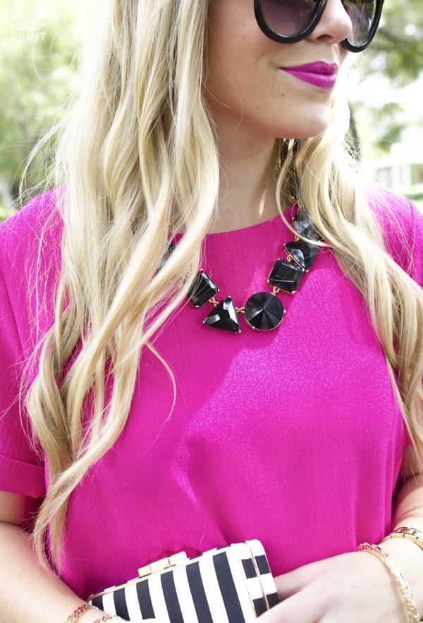 Fuchsia Dress | Living In Color Print