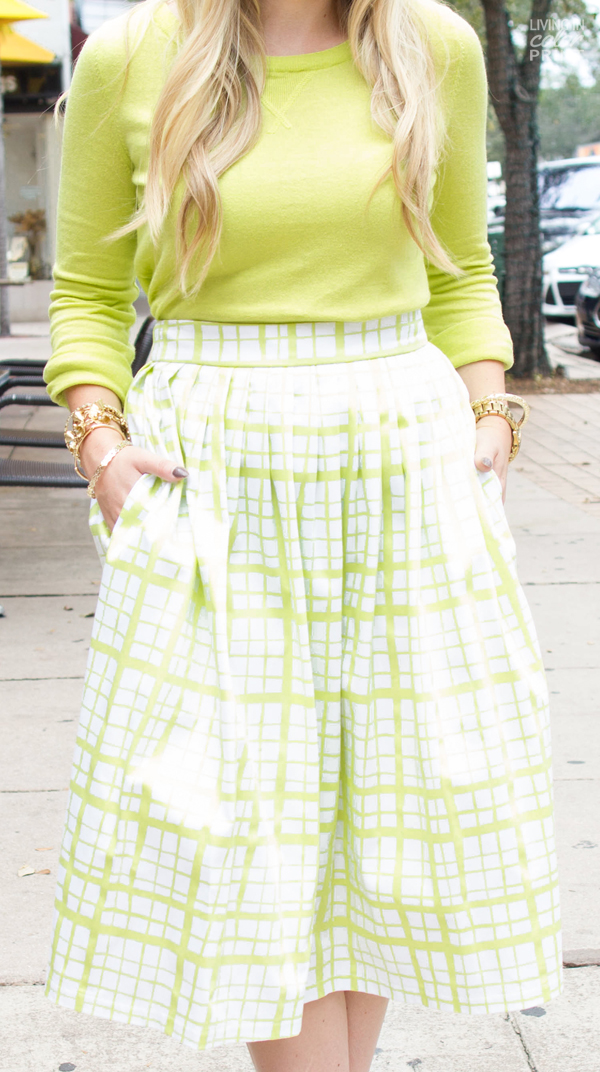 Lime Check   Living In Color Print