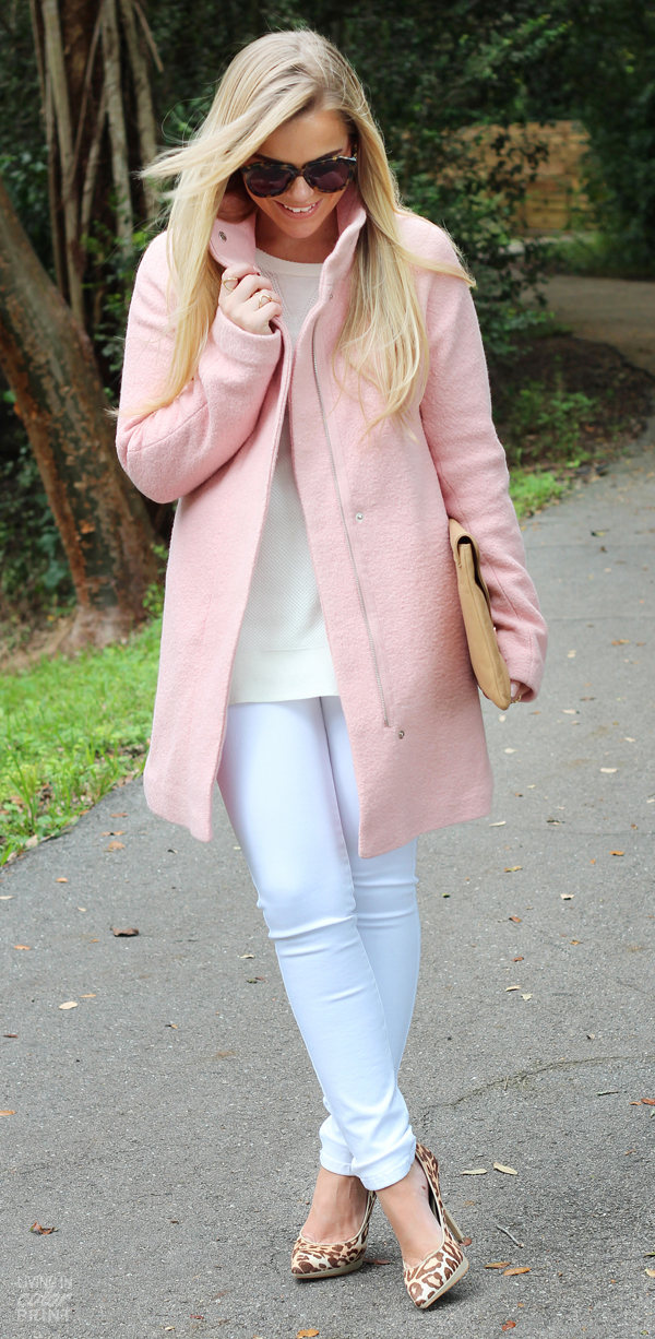 Pale Pink Coat | Living In Color Print
