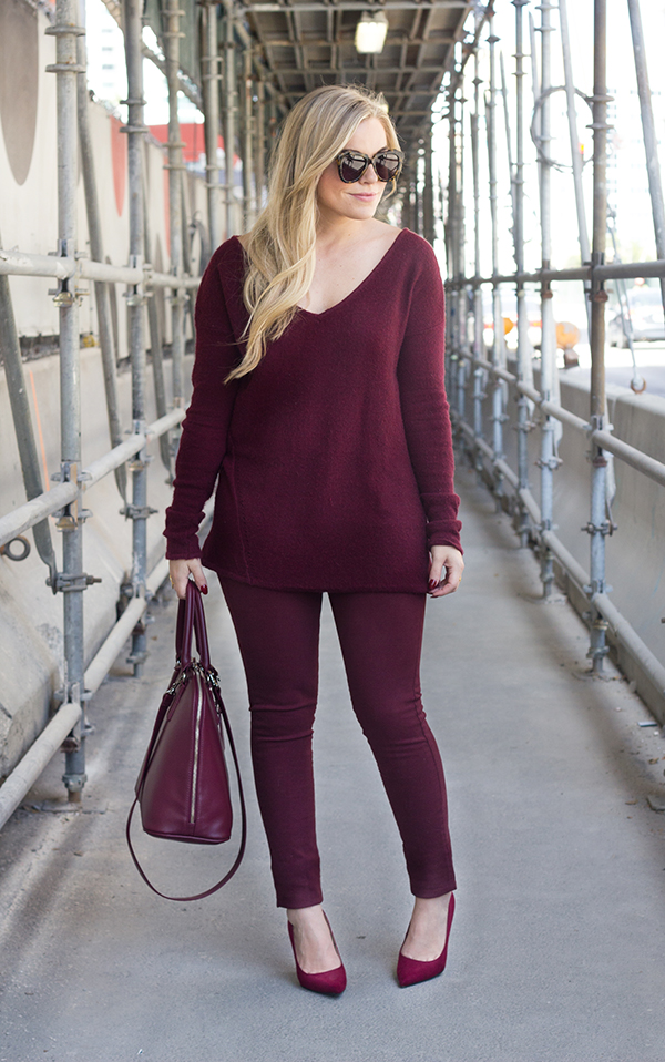 Bon Monochromatic Burgundy | Living In Color Print ...