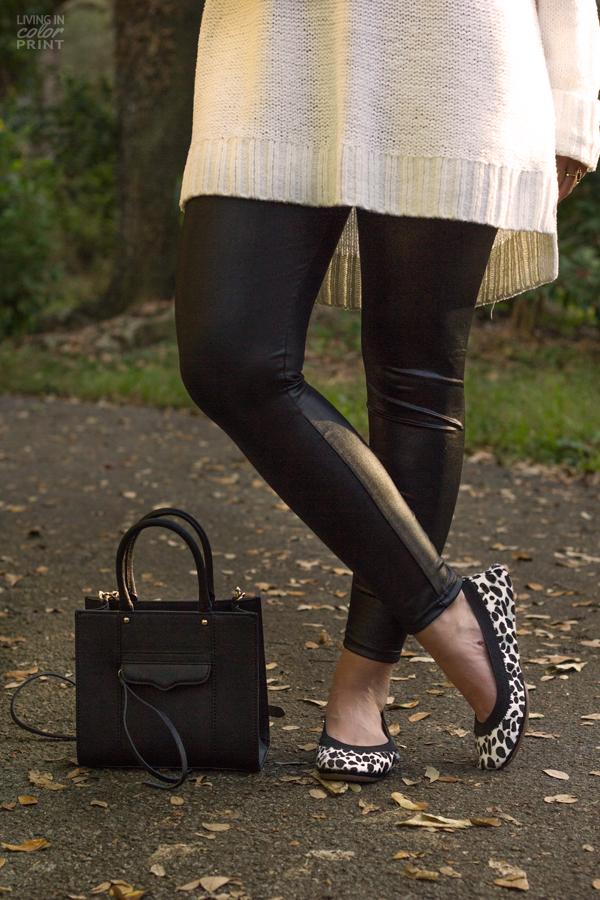 Weekend Casual | Leather Leggings
