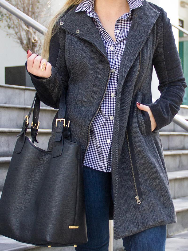Black + Grey Coat | Living In Color Print