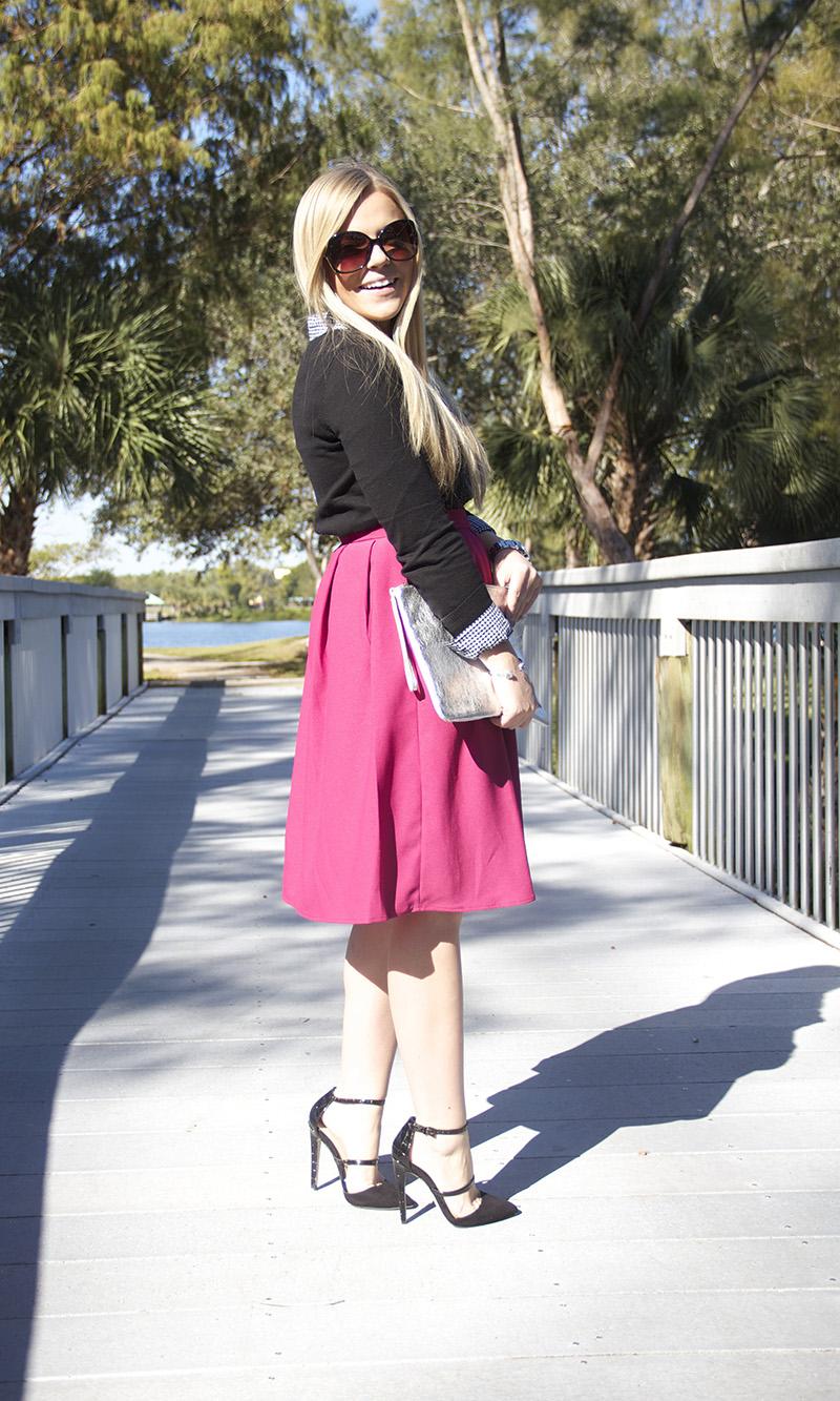Fuchsia Skirt | Living In Color Print