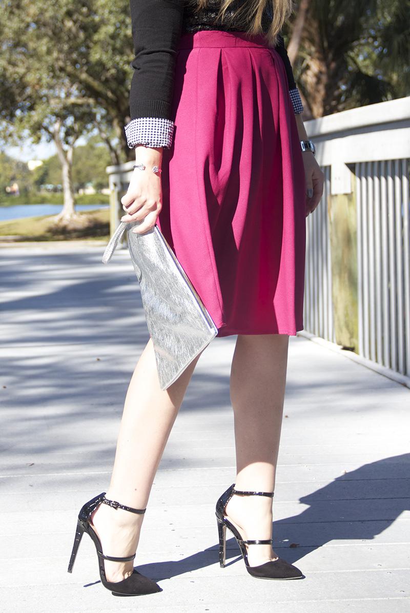 Fuchsia Skirt | Living In Color Print2