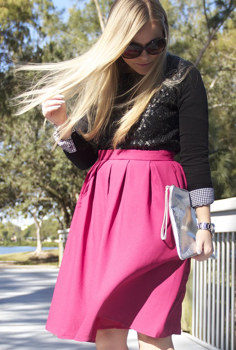 Fuschia Skirt | Living In Color Print9