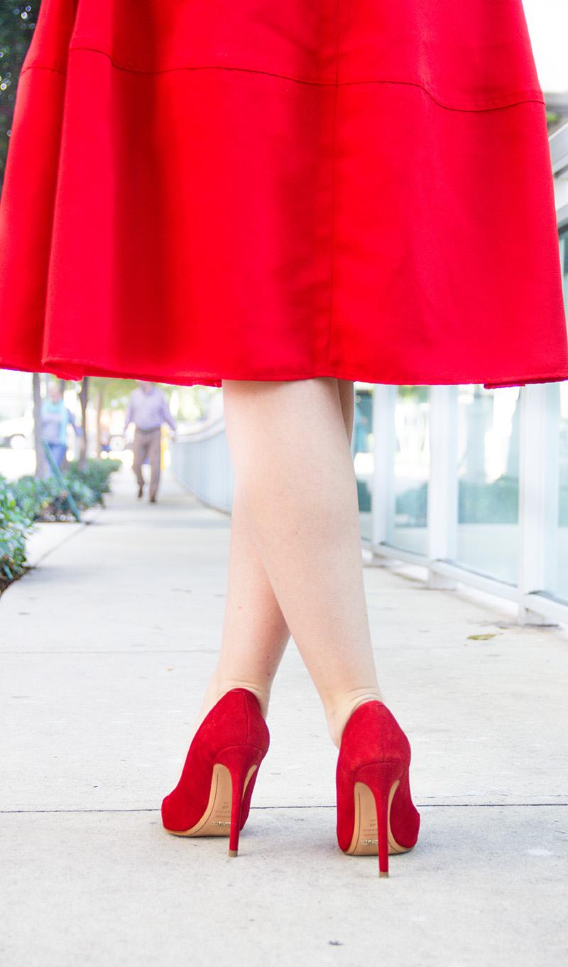 Red Skirt + Tartan   Living In Color Print