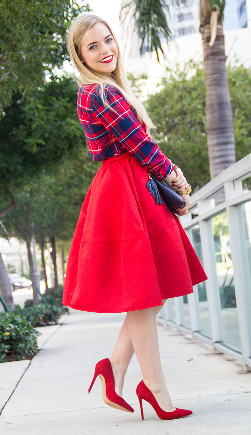 Red Skirt + Tartan | Living In Color Print