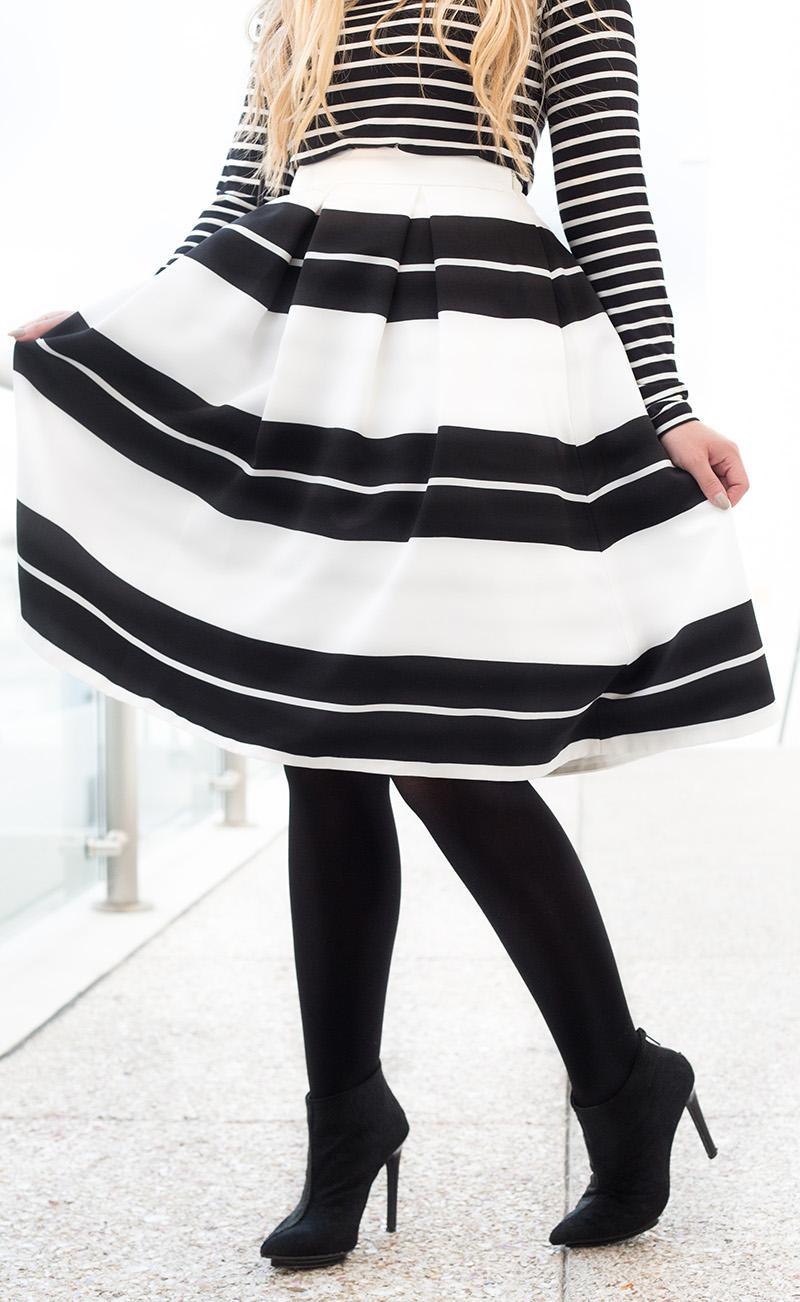 black-and-white-stripe-midi-skirt