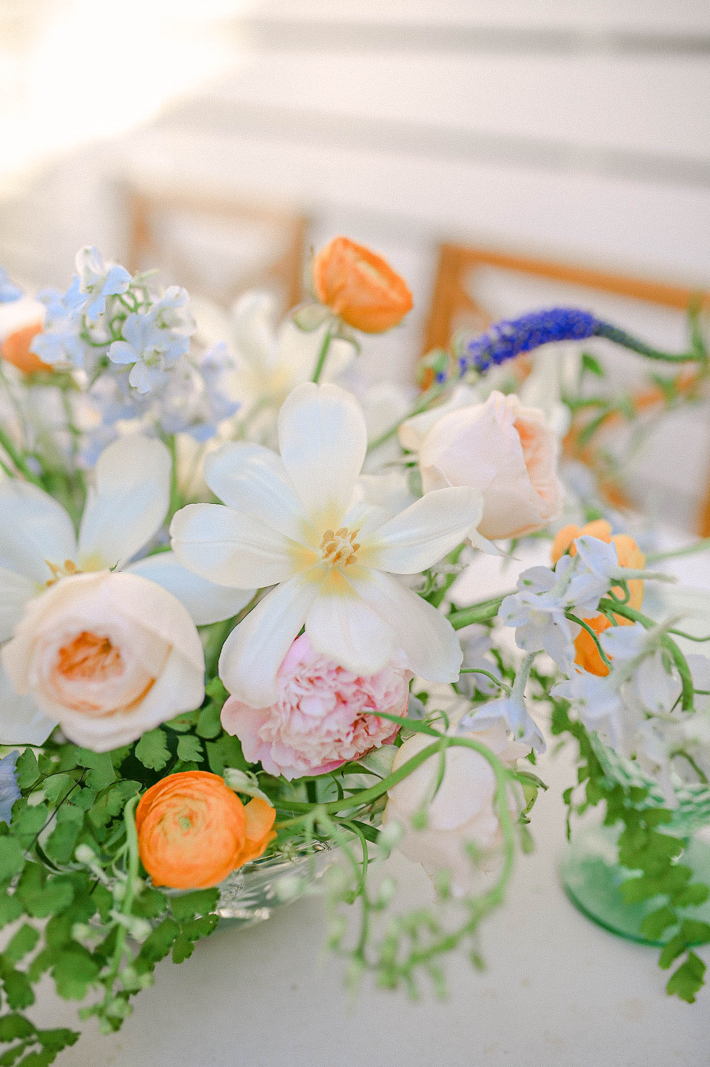 Spring Floral Arrangements | Orange Ranunculus