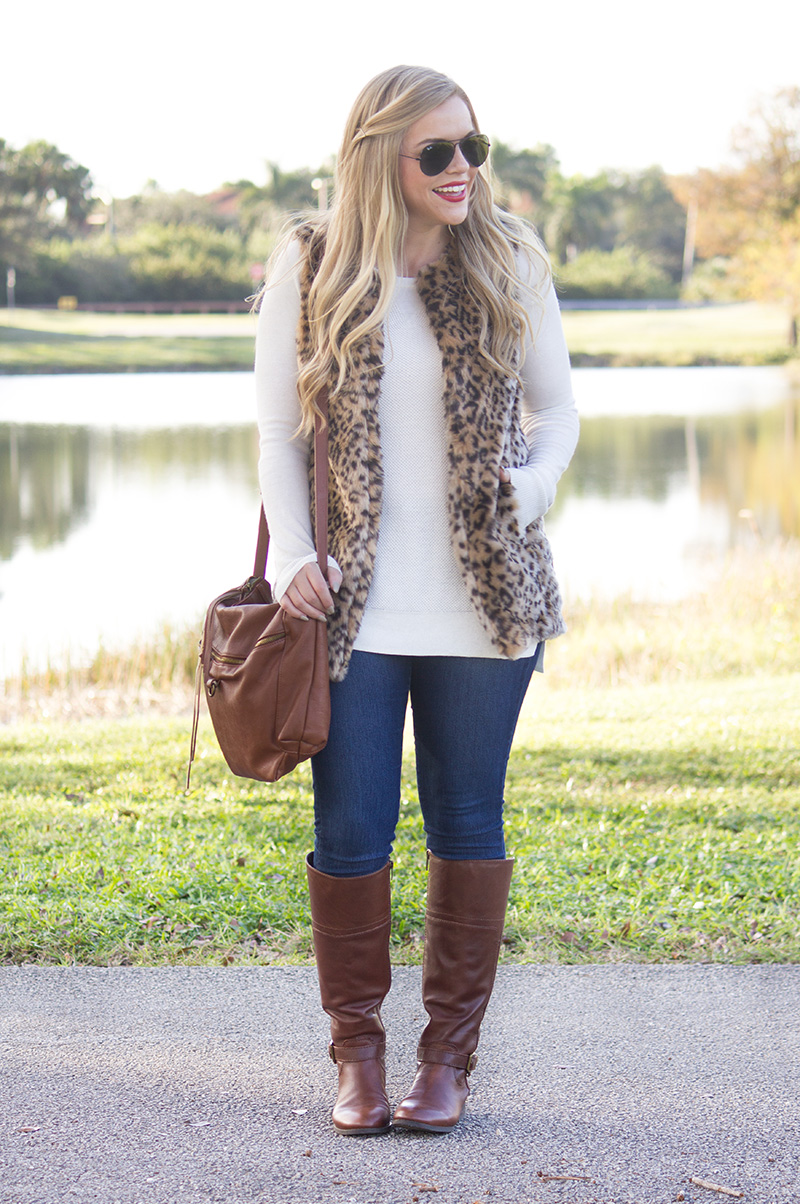 Leopard Vest | Living In Color Print