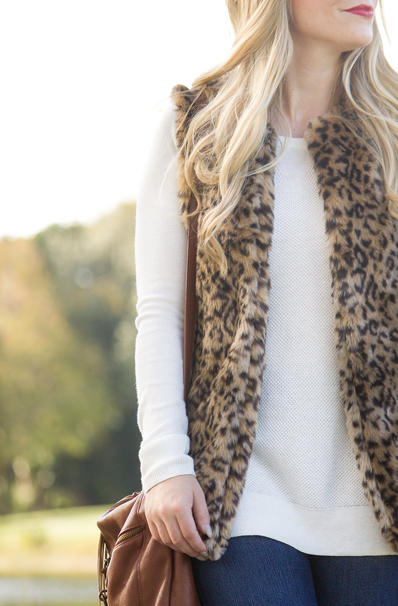 Leopard Vest   Living In Color Print