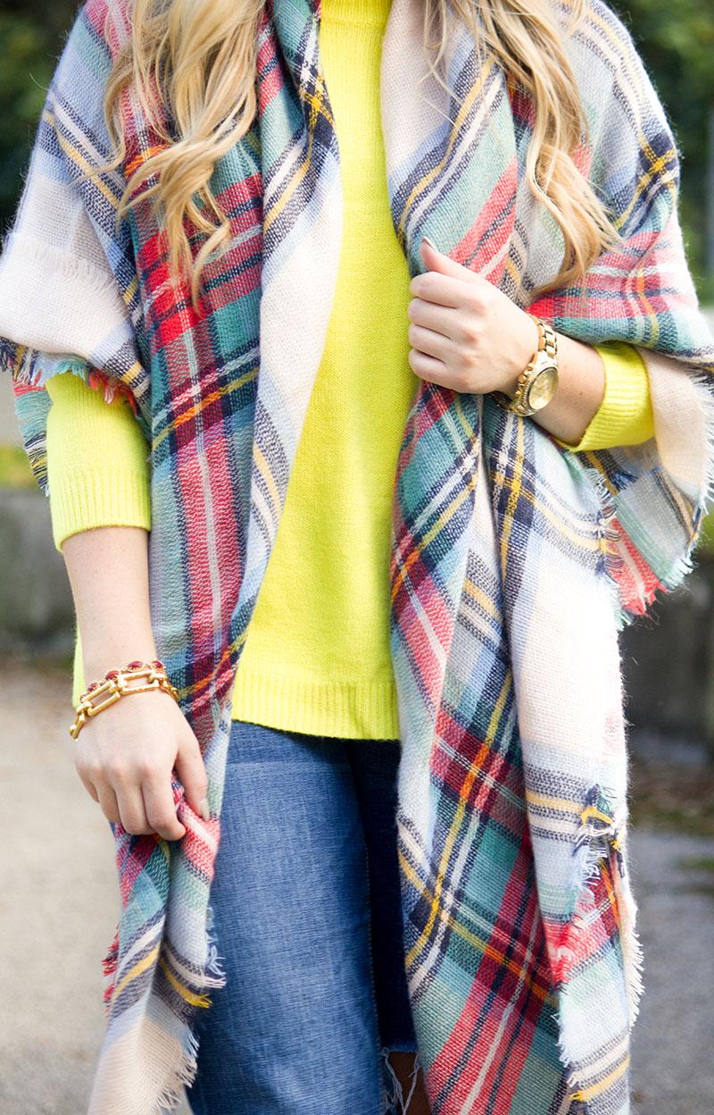 Neon + Blanket Scarf