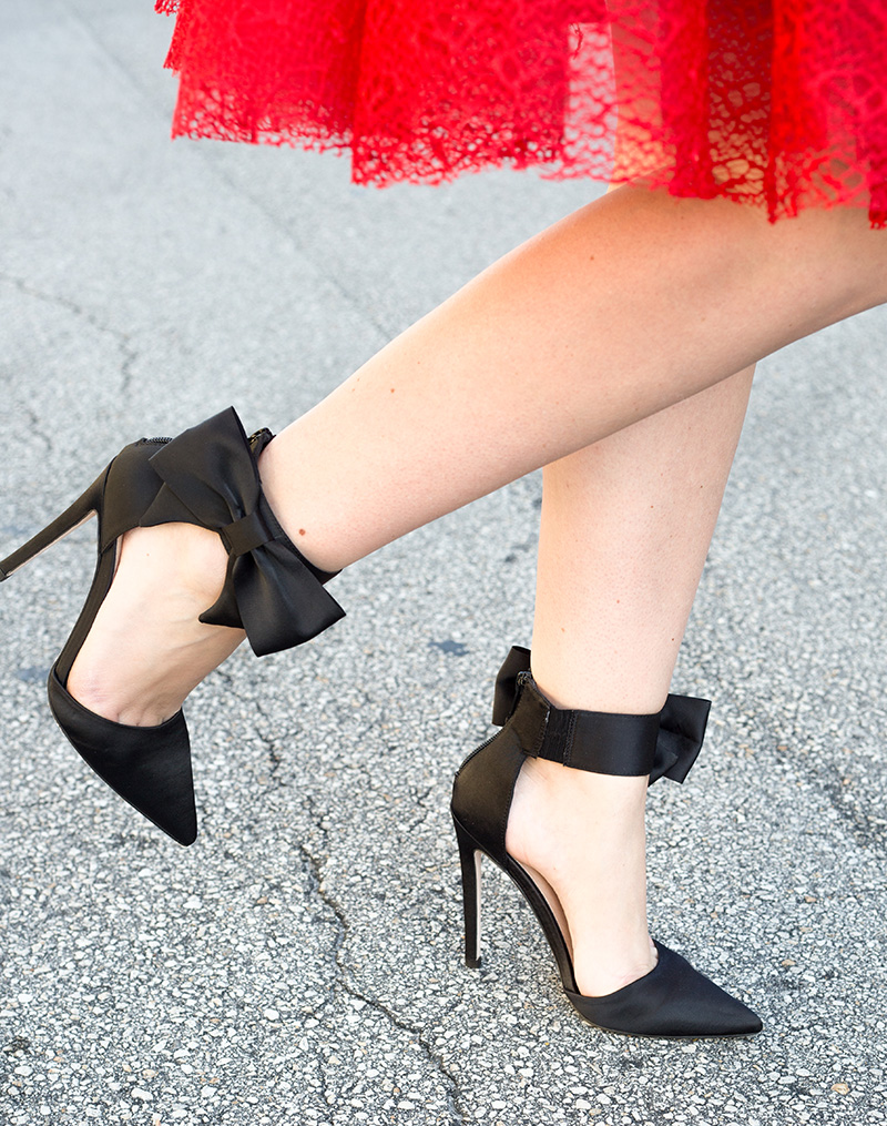 black-ankle-bow-heels