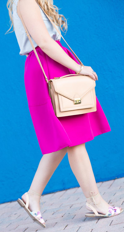 fuchsia-midi-skirt