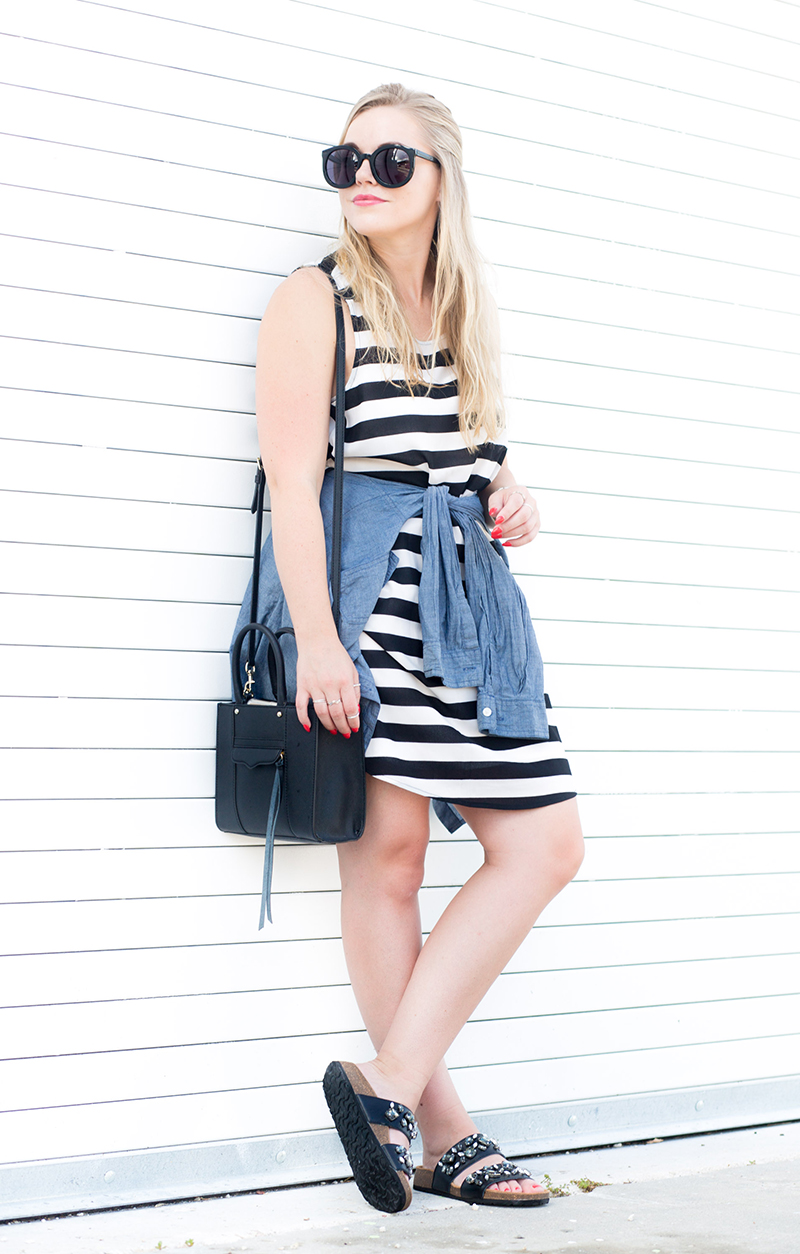 horizontal-black-and-white-stripe-dress