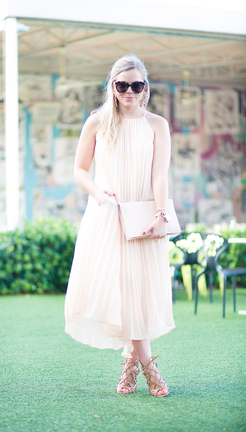 nude-pleated-maxi-dress
