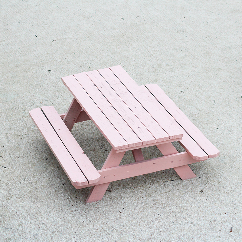 pink-picnic-table